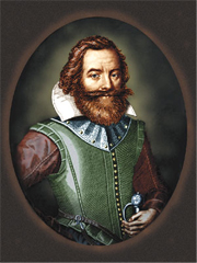 Captain John Smith color portrait