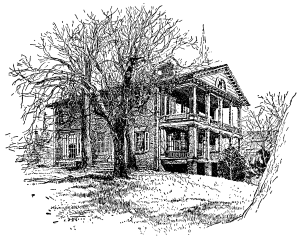 House on Smith's Hill - Destroyed in the Evacuation Fire of April 2, 1865