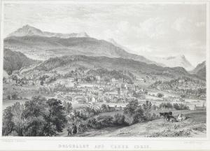Dolgelley, Gwynedd, Wales Illustration Townscape