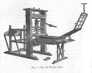 18th Century Wooden Letterpress