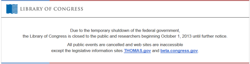 Library of Congress Is Closed