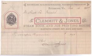 Clemmitt & Jones - 1877